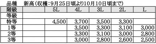 ますみ梨農園 価格表3