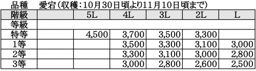 ますみ梨農園 価格表4