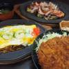 田原ポークと渥美半島産のキャベツを使った鉄板料理と丼が大人気!どんぶり街道出店メニューのかつ丼もおすすめ。